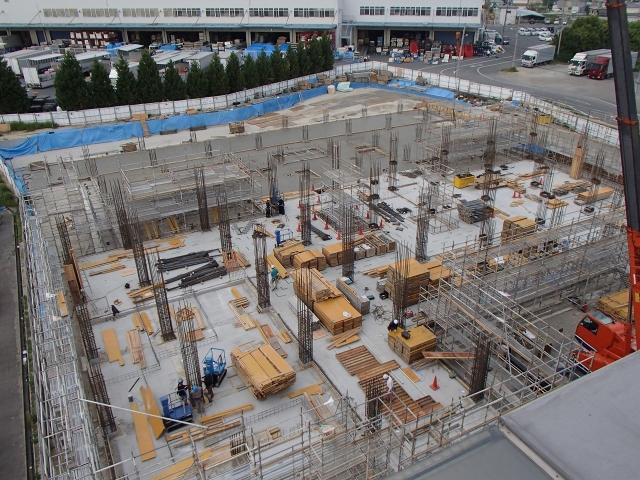 1階鉄筋、型枠工事