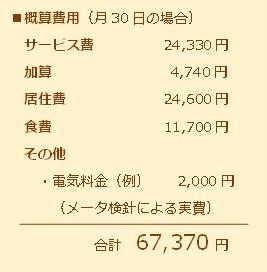 概算費用(月額)